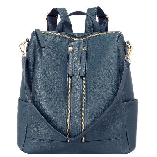 rucsac convertibil in geanta bleumarin